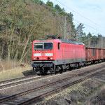143 116 km 68,3 am 22.03.2017. Einige 143er wurden wieder in Güterzugdienst eingesetzt