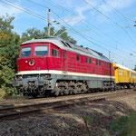232 550 mit einen Bauzug am 02.10.2012