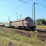 My 1155 und WAB 25 (228 719) in Richtung Dessau am 29.07.2008