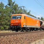 145-CL 001 eine ehemalige SBB Cargo Lok – Baitz km 57,0 am 18.07.2014
