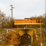 In den 1980er Jahren fuhr noch ein Nahgüterzug von Seddin nach Belzig - 110 305 mit diesen an km 63,3
