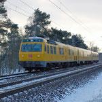 719 001 Von DB Netz – ein Triebwagen für Fahrwegmessung am 04.02.2012