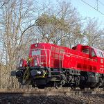 """261 020 auf der Rückfahrt nach Halle/S – Bad Belzig km 62,4 am 10.04.2011.  Sie war in Werk Seddin zum """"Probedrehen auf der URD"""""""