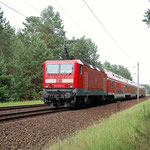 143 567 schiebt Re 7 am 15.06.2011 – km 42,8