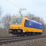 E186 116 Baitz km 58,8 am 30.12.2015. Die NS Hispeed Lok war im AW Dessau und es wurde eine Probefahrt nach Seddin und zurück durchgeführt.