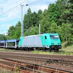 ITL 185 611 kommt aus Potsdam am 27.06.2016. Der Zug wurde wegen Bauarbeiten am Berliner Außenring umgeleitet