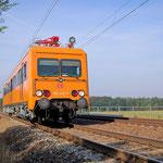 Der ORT 708 320 noch mit originaler Farbgebung - Belzig km 63,0 am 07.08.2007