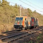 185 641 von hvle war LZ unterwegs – km 60,6 am 04.03 2011