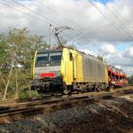 ES64 F4-008 hat noch die Dispo-Lackierung – Bad Belzig 09.10.2011