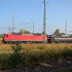 120 101 und 159 mit einen Sonderzug aus Berlin Richtung Dessau am 22.09.2009