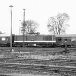 110 888 wartet auf ihre Rückleistung von Belzig – Oktober 1981