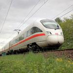 Ein ICE 411 074 Richtung Berlin – Bad Belzig km 63,3 am 06.05.2012