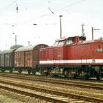 Im Juli 1997 fand ein große Eisenbahnfest in Belzig statt - 110 228 am 24. 07.1997