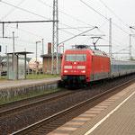 101 106 kommt aus München mit dem Nachtzug am 18.06.2007. Dieser Zug ist leider schon Geschichte.