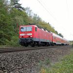 143 843 mit RE7 nach Belzig km 60,4 am 16.10.2008