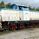 V60.20 der Eisenbahnbewachungs-GmbH, Würzburg EBW abgestellt am 03.09.2007 - die Lok wurde an  VEB Orbitaplast, Gölzau Orbitaplast ausgeliefert