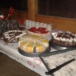 Dessert beim anschliessenden Nachtessen