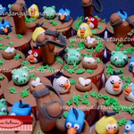 PASTEL DE CUPCAKES ANGRY BIRDS 3D