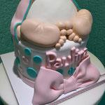 PASTEL DE FONDANT BABY SHOWER PAÑAL