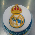 PASTEL DE FONDANT REAL MADRID