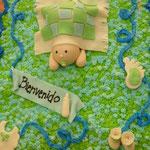 pastel cupcakes bautizo