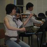 ヴァイオリンの安井さん。 チボリ交響楽団の第2ヴァイオリンの主席奏者でいらっしゃいます。