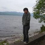 こちらはネス湖。結構寒い!