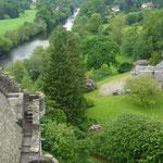 城の屋上からの風景。当時とさほど変わらないのでは。 美しい田園風景だ。