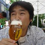ヨーロッパ2日目:ハンブルクでのビール。