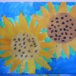 Mächtige Sonnenblumen aus der 3. Klasse