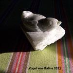 Vogel im Nest von Malina, Speckstein