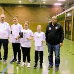 Kreismeister Mannschaft Schüler B: Emil König, Aaliyah Saatze und Hannah Splieth