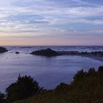 Coucher de soleil sur l'île Milliau
