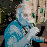 Biertrinker • 2009 • Acryl auf Leinwand • 80 x 100