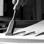 Arbeit: Shaker oval boxes / Schwalben anfasen