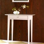 Beistelltisch / Garderobe weiß mit Marmorplatte