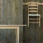 Shaker-Line worktable und Stuhl, Esche