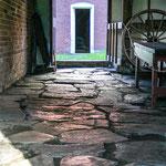 Fußboden in der Schmiede