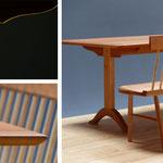 Shakertisch trestletable / Esstisch aus Kirschbaum und settee