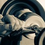 Shakertisch machen: Drechseln der Räder