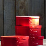 Shaker oval boxes / farbig lackiert