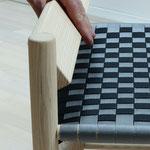 Shaker-Line lowback chair mit Kufen und drehbarer Rückenlehne