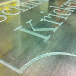 Fertig graviertes Aluminiumblech
