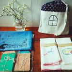 く口ひげ(オリジナルイラストポストカード、ハンドメイド雑貨)展示販売、WS