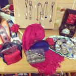 手織工房(手織作品、小物雑貨)展示・販売