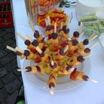 Fruchtspiesse zum Hochzeitsapero