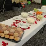 Hochzeitsapero Gemüsedipp und Sandwiches