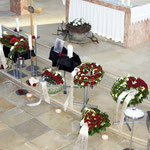 Aufbahrung Urne 3 in der Kirche
