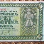 Croacia 500 kunas 1941 (158x84mm) anverso