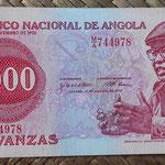 Angola 1000 kwanzas 1979 (138x65mm) pk.117a anverso